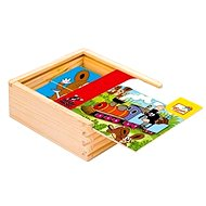Bino Wood Cubes - First puzzle with the Little Mole - Picture Blocks