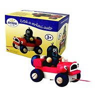 Detoa Little mole and blinking car - Push and Pull Toy