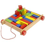 Woody Cart with blocks, small - Educational toy