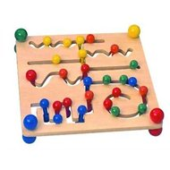 Woody large motor maze with beads - Educational toy