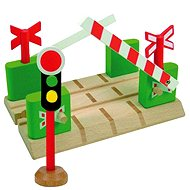 Woody Level Crossing with Barriers - Rail set accessory