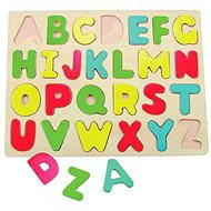 Woody Puzzle on the Plate - Alphabet - Puzzle
