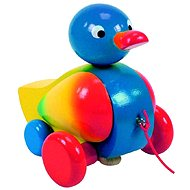 Woody Drawing wooden duck - Push and Pull Toy