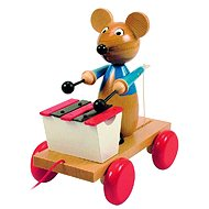 Woody Pull along mouse with xylophone - Push and Pull Toy