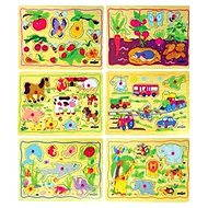 Woody Puzzle On Board Children's Motifs - 1pcs - Puzzle