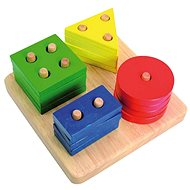 Woody Basic shapes on the board - Educational toy