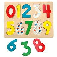 Woody Puzzle on a Board - Numbers with Ladybirds