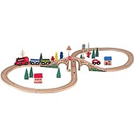 Wooden figure of 8 train set with electric machine - Train Set
