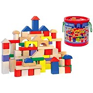 Woody Toddler Blocks in a Bucket with a Shape Sorting Lid - Game set