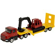 Siku Blister – Tractor with excavator and towed trailer