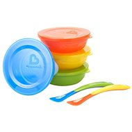 Munchkin - Set of colourful bowls with lids and spoons - Set