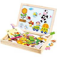 Bino Farm Magnetic Board with Puzzles - Magnetic Building Set