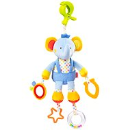 Nuk Pool Party - Elephant with clip - Cot Toy