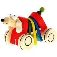 Bino Dog on Wheels - Push and Pull Toy