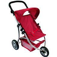 Bino 3-wheel Doll Pram – red - Doll Stroller