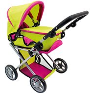 Bino Green dolls buggy with baby carrier - Doll Stroller