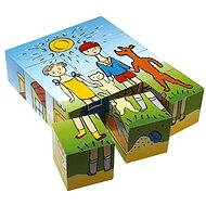 Top wood cubes - Dog and cat 12pcs - Picture Blocks
