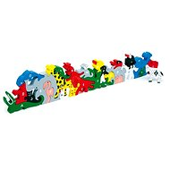Wooden Toys - Animals with letters and numbers - Game set