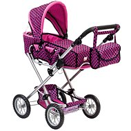 Bino Large Stroller with pink/black bag - Doll Stroller