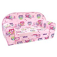 Bino Pink Sofa - owls - Children's furniture