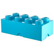 LEGO 8-Stud Storage Brick 250 x 500 x 180mm - Cyan - Storage Box