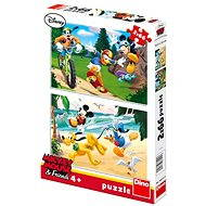 Dino Mickey Mouse sports - Puzzle