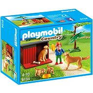 PLAYMOBIL 6134 Golden retriever with puppies - Building Kit