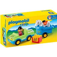 Playmobil 1.2.3 6958 Car with Horse Trailer - Building Kit