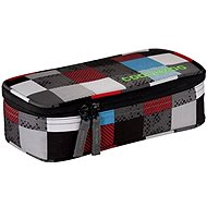 CoocaZoo Pencil Denzel Chequered Blue Red - Pencil Case