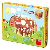 Dino Kubus wooden blocks - Domestic animals