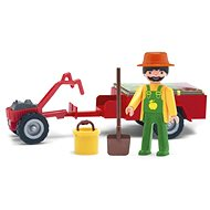 IGRACEK - Gardener with tractor and accessories - Game set