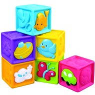 Kids' squeaky cubes 6 pcs - Educational toy