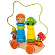 Motorized trolley with a labyrinth - Push and Pull Toy