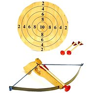 Small crossbow with arrows and target
