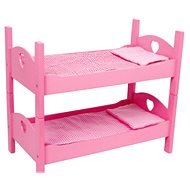 Wooden Toy Bunk Beds, Pink - Doll Accessory