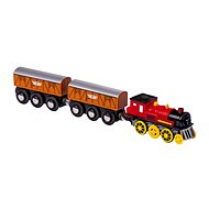 Electric Engine with 2 Wagons - Rail set accessory