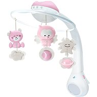 Musical Carousel with Projection, 3-in-1 Pink - Cot Toy