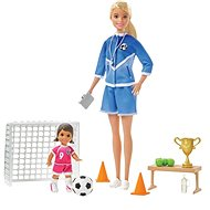 Barbie Football Trainer with Doll Game Set Blonde