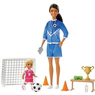 Barbie Football Trainer with Doll Game Set, Black Woman