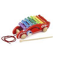 Wooden towing xylophone - car - Push and Pull Toy