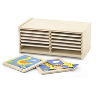 Set of wooden puzzles - 12 pcs - Wooden Toy