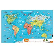 Wooden world map with blackboard - Wooden Toy
