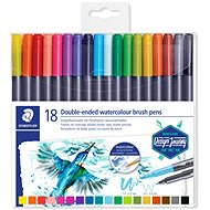Staedtler brush markers Marsgraphic Duo 18 colours - Felt Tip Pens