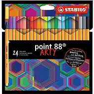 Stabilo Point 88 ARTY 24 Colours - Felt Tip Pens
