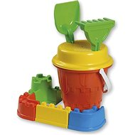 Androni Set of sand castle with ramparts - medium, red - Sand Tool Kit