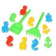 Androni Sand builders 10 pieces - sea world + shovels and rakes - Sand Tool Kit