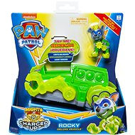 Paw Patrol, Mighty Pups Charged Up Rocky's Deluxe Vehicle with Lights and Sounds - Game Set