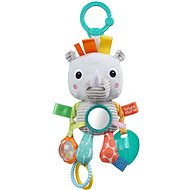 Rhinoceros toy on a C ring Playful Pals - Toddler Toy