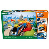 Brio World 33972 SMART TECH SOUND Travel Set with Tunnels - Train Set