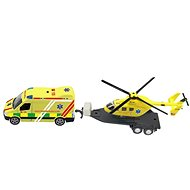 Ambulance set + helicopter, with light and sound - Toy
